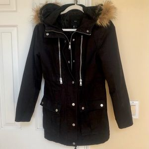 Forever 21 Winter Jacket with Faux Fur Hood